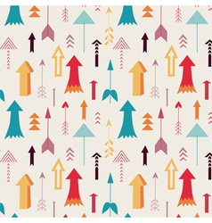 arrows directing up seamless pattern vector image vector image