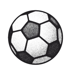 black grunge soccer ball on white vector image