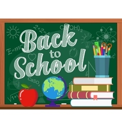 Blackboard and back to school concept vector