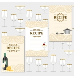 Blank for a recipe vector image vector image