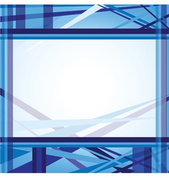 Blue abstract line background template vector