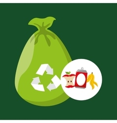 concept recycling process trash icond design vector image