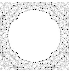 Creative polygonal background modern frame in vector