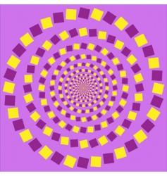 eccentric rotating circle vector image vector image