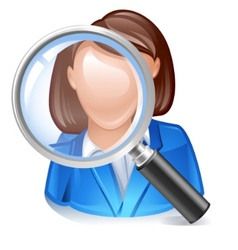 Employee search icon vector