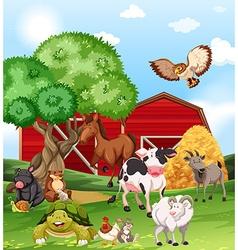 Farm animals living on the farm vector image