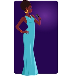 Female jazz singer vector