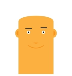Flat bald joyful face man avatar character vector