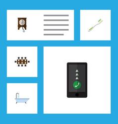 Flat icon oneday set of clock boardroom dental vector