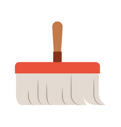 hand broom with wooden stick in colorful vector image
