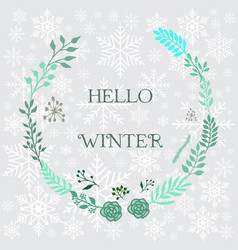 hello winter background vector image vector image