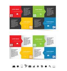 infographic set in color with symbol vector image