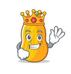 King butternut squash mascot cartoon vector
