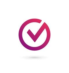 Letter v check mark logo icon design template vector