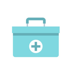 medicine chest icon flat style vector image vector image