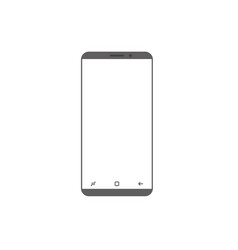 Modern smartphone icon isolated on white web site vector
