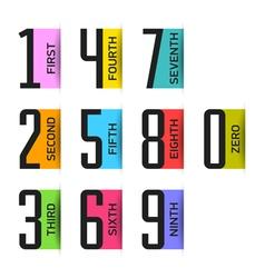 Numbers set design element vector