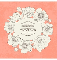 Poppies vintage card vector image
