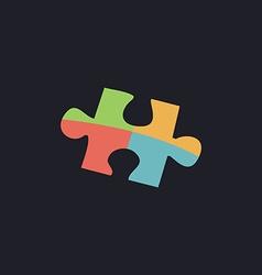 Puzzle computer symbol vector image