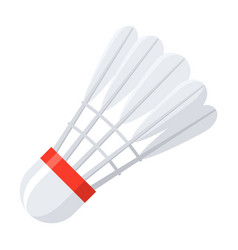 Shuttlecock for badminton vector