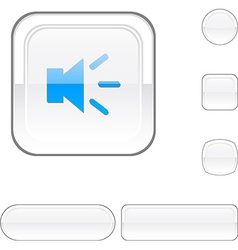 Sound white button vector