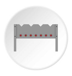 Steel brazier icon circle vector