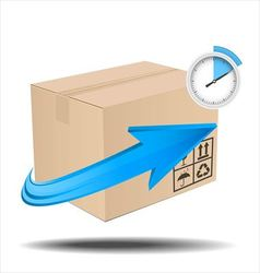 Time delivery services vector image vector image