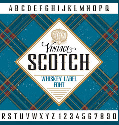Vintage scotch poster vector