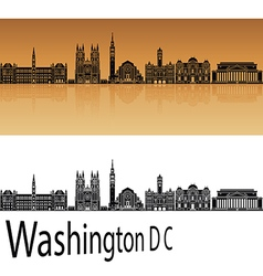 Washington dc v2 skyline in orange vector