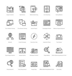 web and seo line icons 30 vector image vector image