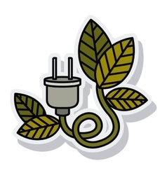 Wire cable connection isolated icon vector