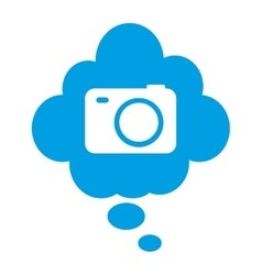 Camera lens photographic icon vector