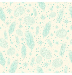Winter seamless pattern with christmas tree branch vector