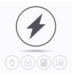 Lightning icon electricity energy power sign vector