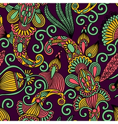Hand draw ornate floral seamless pattern vector