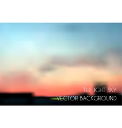 Blurred twilight sky cityscape vector