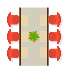 Top view dining room interior element vector