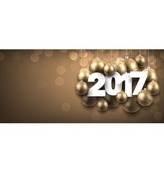 2017 New Year golden banner vector image