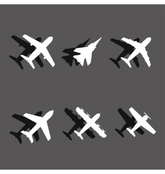 plane icons vector image