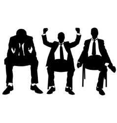 Men on chair vector