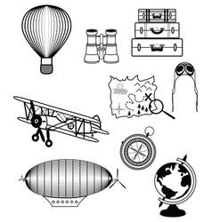 Vinatge travel components vector