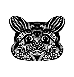 Zentangle stylized raccoon sketch for tattoo or t vector