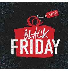 Black friday black background gift box vector