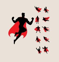 superhero silhouette vector image