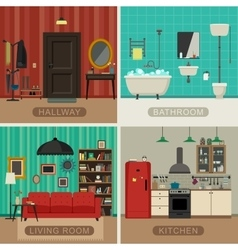 Basic rooms of apartment vector