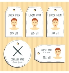 Face plastic surgery discount gift tags ready to vector