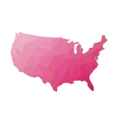 Low poly map of usa vector