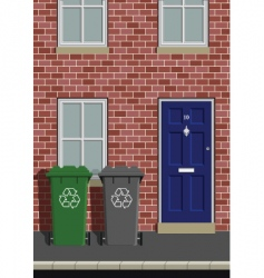Wheelie bins vector