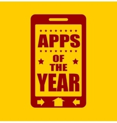 Apps of the year text on phone screen vector