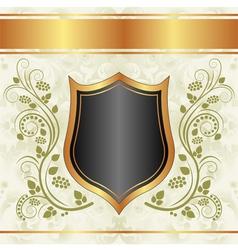 Black creamy gold background vector